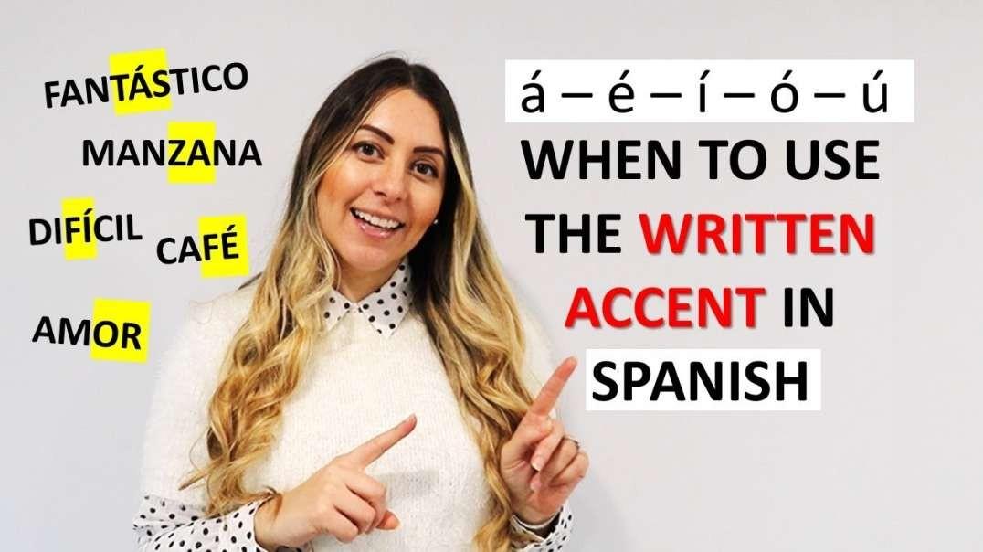 How to Use Spanish Accent Marks | Cómo Usar la Tilde y los Acentos en español