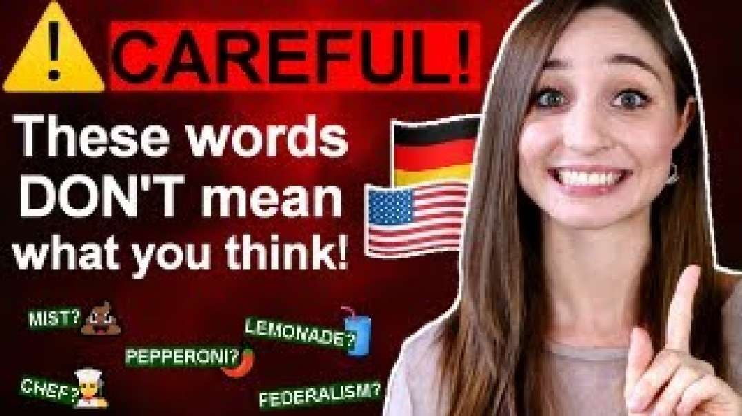 17 FALSE FRIEND WORDS in German and English | German Girl in America
