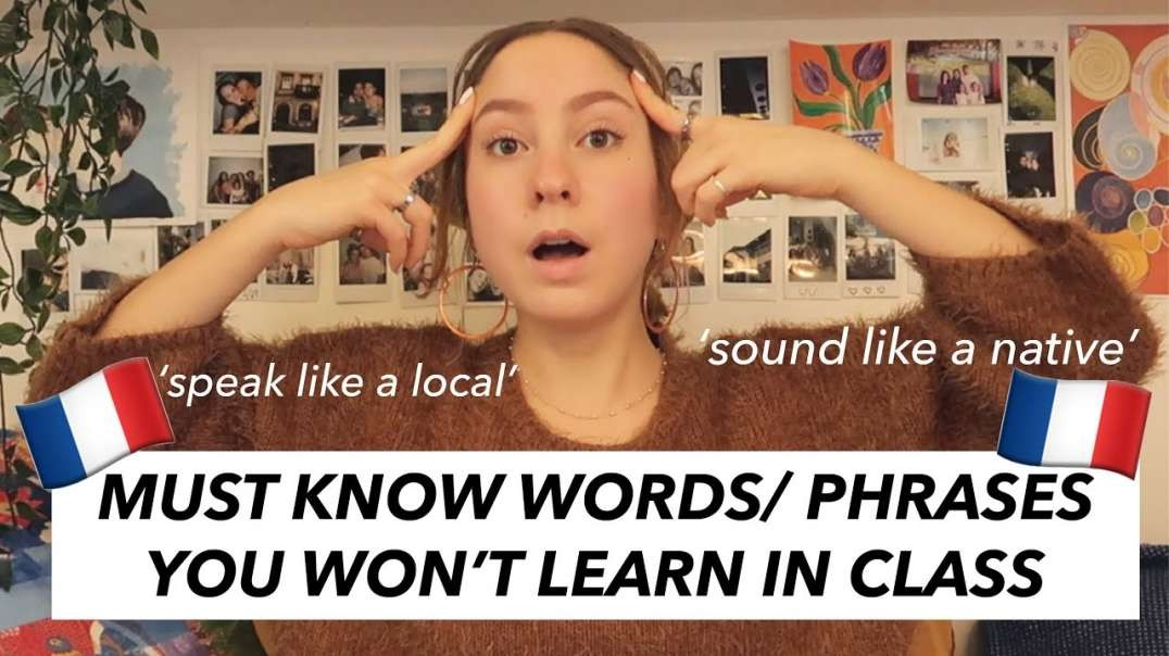 Watch THIS if you're learning French (sound more natural)