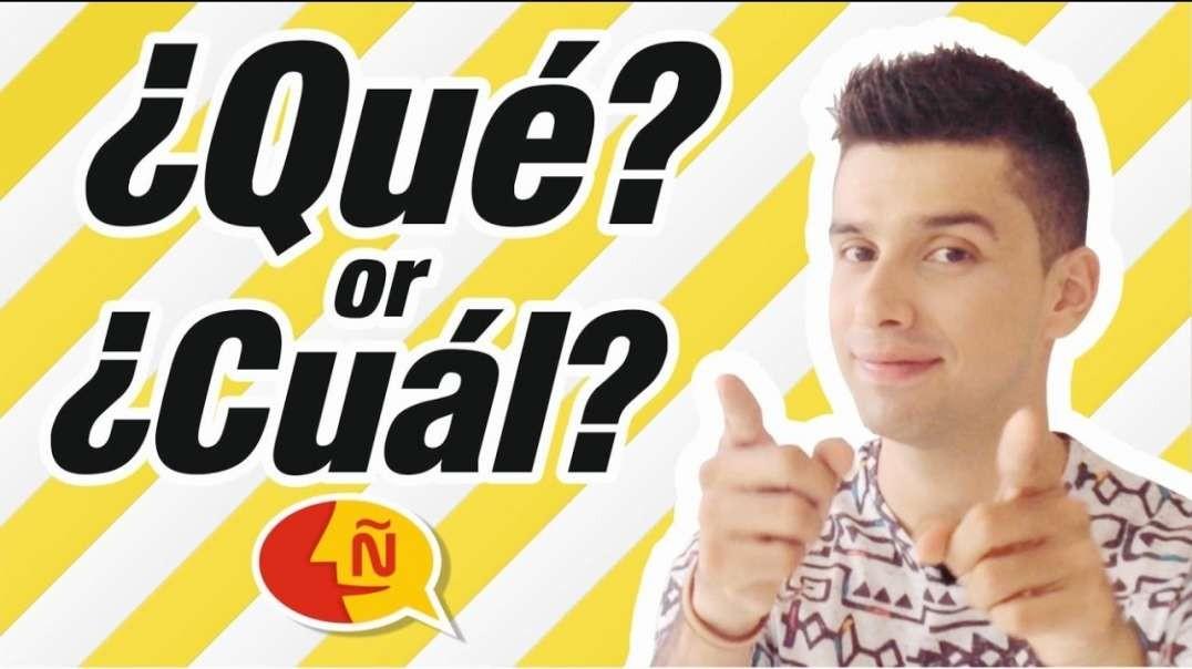Spanish for Beginners - ¿Qué? vs ¿Cuál?