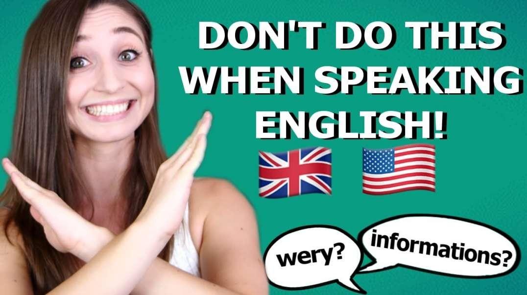 5 Mistakes Germans Make in English | German Girl in America