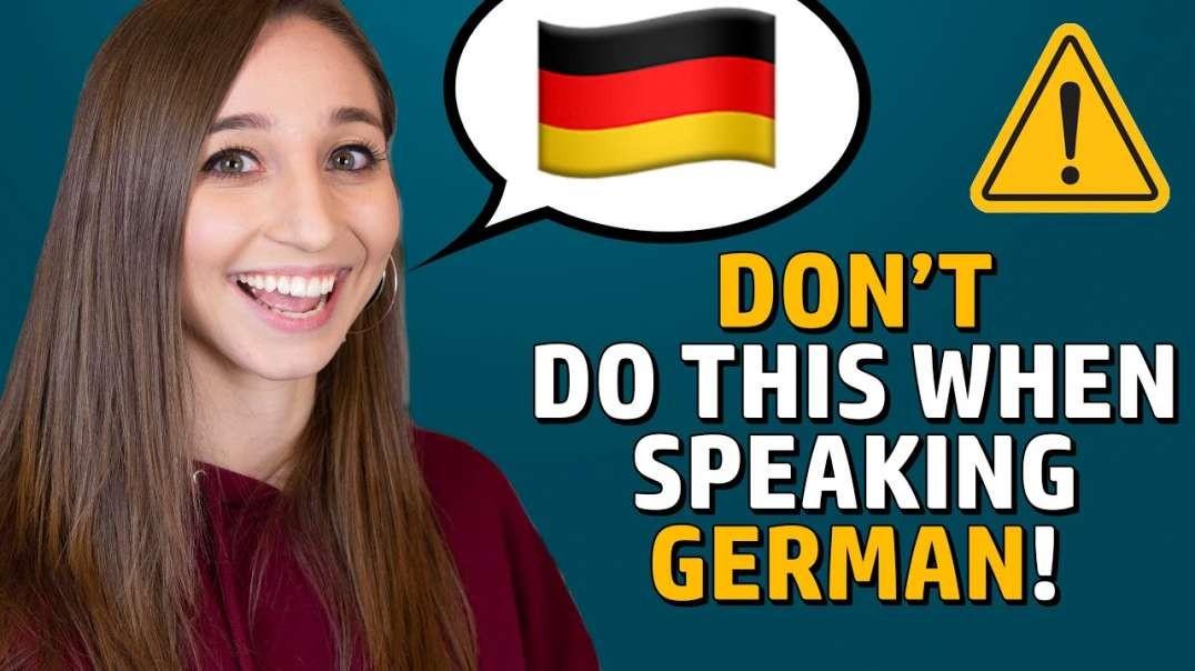 6 mistakes YOU should avoid when speaking German! | German Girl in America