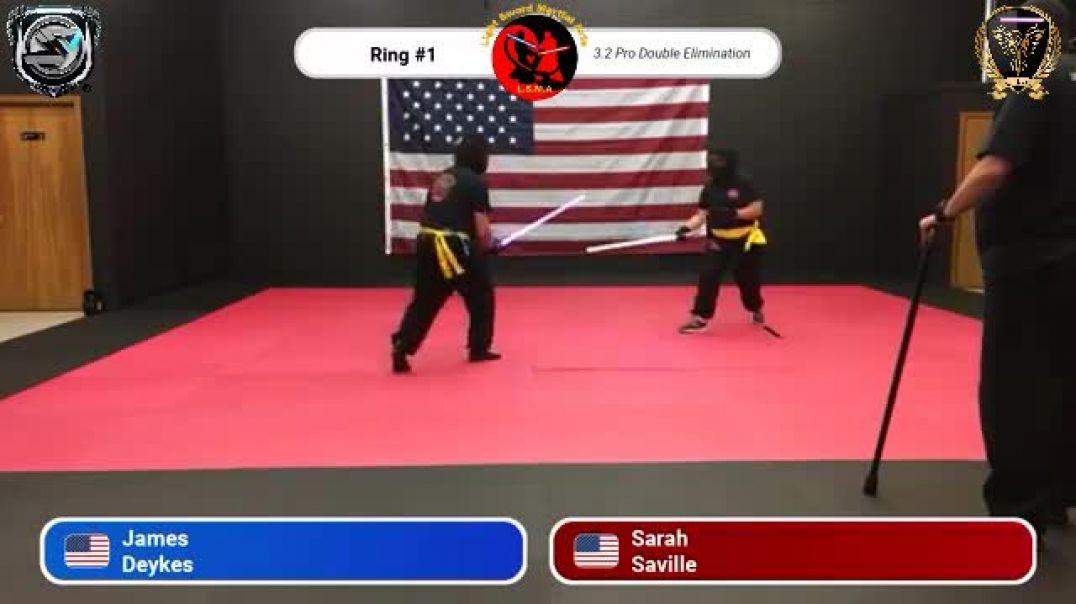 James Deykes vs. Sarah Saville - Pro Division Round 11